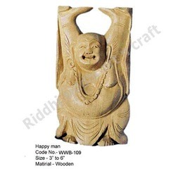 Carved Laughing Buddha