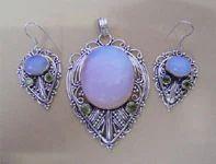 Fire Opalite Peridot Silver Jewellery