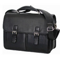 Buckle Leather Briefcase Bag