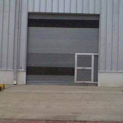 Galvanized Shutter With Wicket Gate