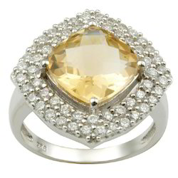 Arabic Wedding Rings Set In Zirconia