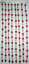 Redish Beaded Curtain