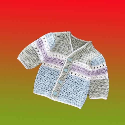 849ee3fd9b9d Stripped Crochet Baby Sweater - View Specifications   Details of ...