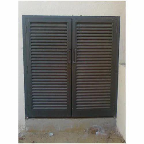 Vertical Aluminium Louver Door