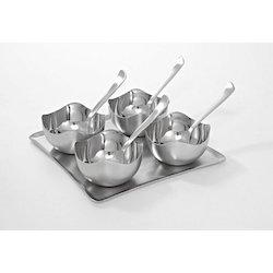 110-S183-Dessert Set Of 4 Small Bowls 4 Spoon