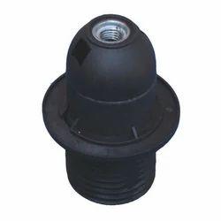 E-27 Plastic Lamp Holder Half Thread with Shade Ring