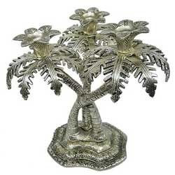 Metal Palm Tree Candle Holder