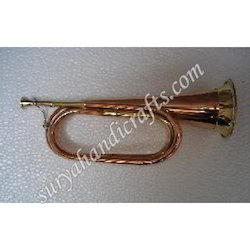 Brass Medium Bigul With Copper