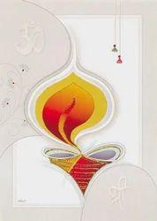 Ethnic diwali cards di07 parekh cards india manufacturer in ethnic diwali cards di07 m4hsunfo