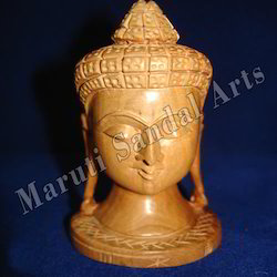 Sandalwood Buddha Head