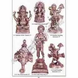 Brass Head Ganesh Standing Hanuman Ji