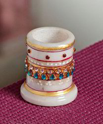 Marble Tooth Pick Holder