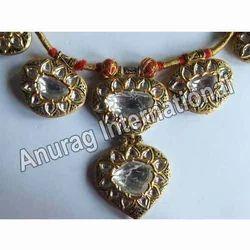 Kundan Meena Diamond Polki Necklace