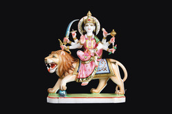 DU-0003 Durga Mata Colored Statue