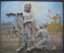 Krishna Arjun Kurkshtra Statues
