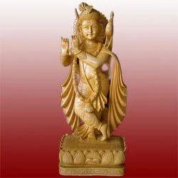 Decorative Wooden Krishna Statues