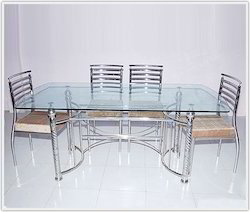 Stainless Steel Dining Tables   Steel Furniture Dining Table Manufacturer  From Rajkot Part 12