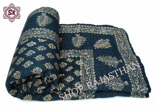 fef8df807b Jaipuri Block Print Double Bed Reversible Razai(Quilts), डबल ...