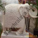 Elephant Intricately Carved Statue