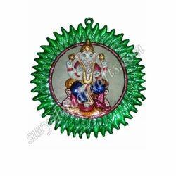 Meena Painting Round Ganesha