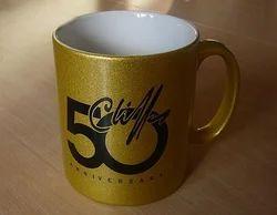 Golden Ceramic Mugs