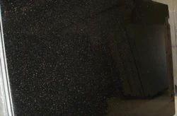 Black Galaxy Granite Slab, Thickness: 15-20 mm