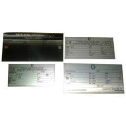 Aluminum Metal Name Labels
