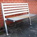 3 Seater Stainless Steel Benches