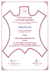 Council of Leather Exports Awarded