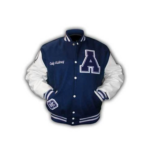 Blue And White Full Sleeve Designer Jacket