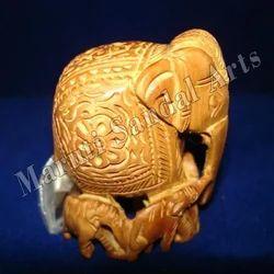 Sandalwood Carving Baby Elephant