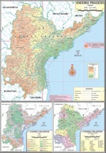 Andhra Pradesh of Physical Map, Physical State Maps - N. C. Kansil ...