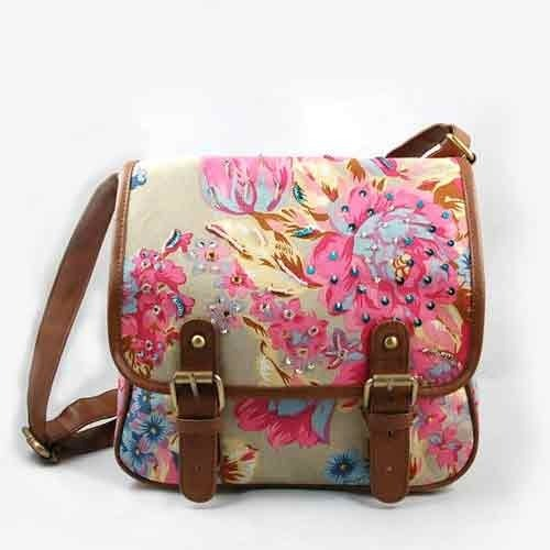 Floral Sling Bags - View Specifications & Details of Embroidered ...