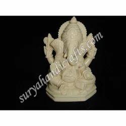 Bone Ganesha Stand Sitting