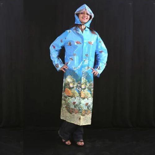 e8bb15c9a Ladies Printed Plastic Raincoat - Aashi Plastic Private Limited ...