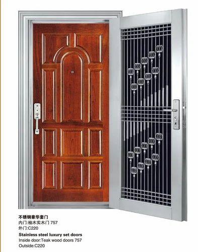 Stainless Steel Safety Doors Stainless Steel Exterior Door OEM