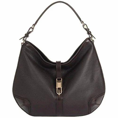 1da1830106a5 ... sale retailer 123b6 5a286 ... Plain Shoulder Handbag Black Leather Bags  Rs 1320 piece ...