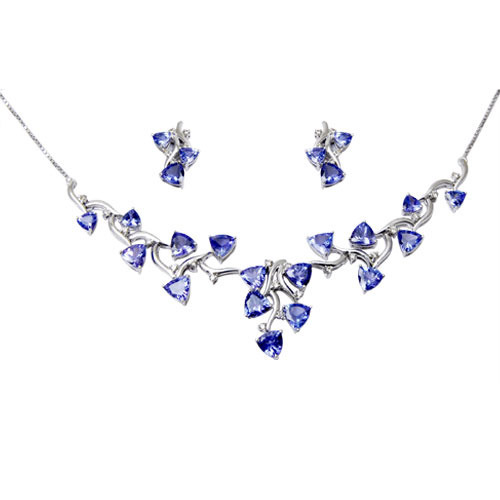 White gold tanzanite jewelry at rs 85224 piece white gold jewelry white gold tanzanite jewelry aloadofball Image collections