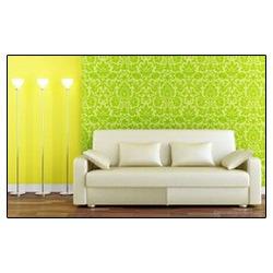 Sea Green Living Room Wallpaper Jain Decor Mumbai Id