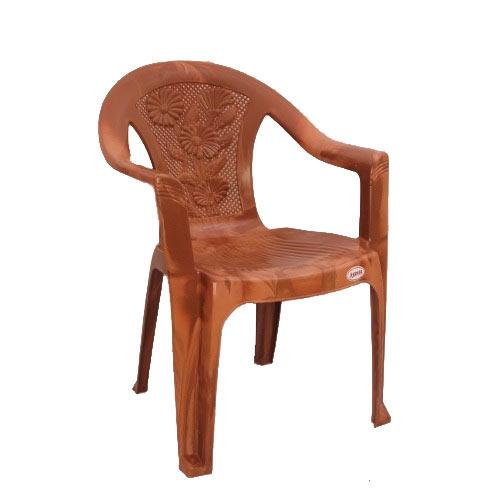 Brown Standard Designer Plastic Chair, Usage: Indoor, Outdoor, Rs ...