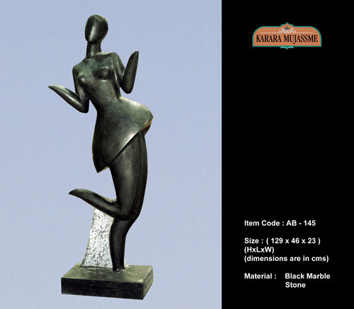 Black Marble Abstract Statue
