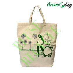 White Green Bag Embroidered Canvas Bags