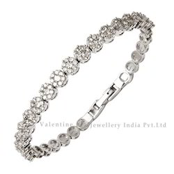 Studded White Gold Diamond Bracelet
