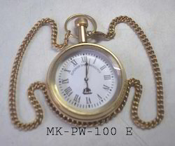 MKI Analog Pocket Watch with Chain, for Personal Use