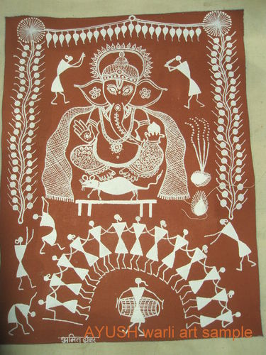 Warli painting with customized themes warli painting on canvas warli painting with customized themes thecheapjerseys Image collections