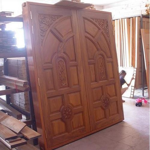Teakwood  Rubberwood Main Doors - National Sanitations Bengaluru