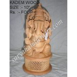 Wooden Ganesh With Jali