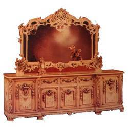 Solid Teak Wood Hand Carved Dressing Table