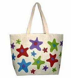 Colorful Jute Beach Bag