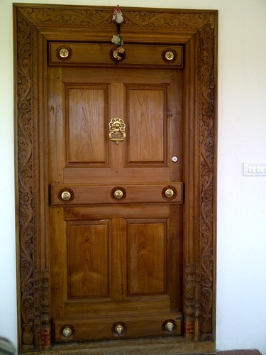 Indian home main door design home review for Indian main double door designs